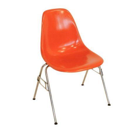 Oranje Eames stoel voor Herman Miller, 1950s | Vintage Design