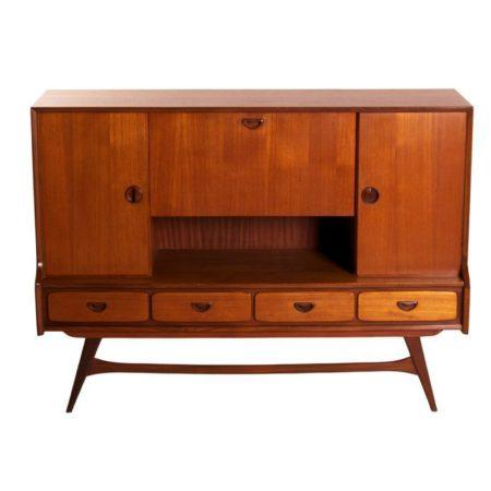 Teakhouten Dressoir van Louis van Teeffelen voor Webé, 1960 | Vintage Design