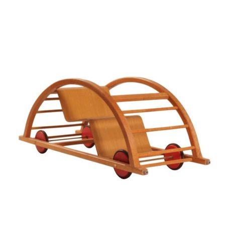 Omkeerbare Schommelstoel, Loopwagen voor Kinderen van Brockhage, Andrä en Mart Stam voor Siegfried Lenz Berggieszhübel, 1950s | Vintage Design