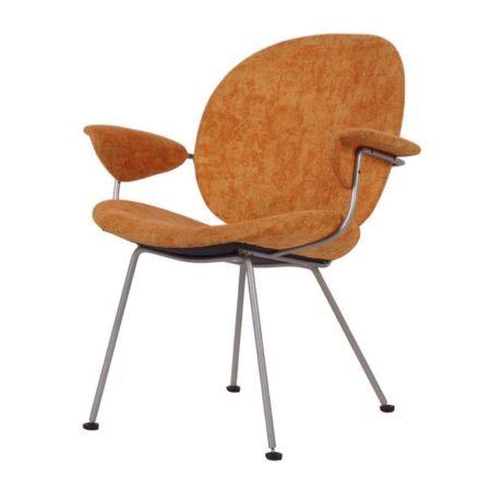 Kembo Fauteuil 302 van Gispen | Oranje Geel Gevlamd | Vintage Design