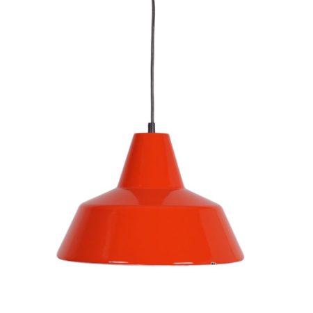 Louis Poulsen Hanglamp |Rood Wit Emaille | Vintage Design