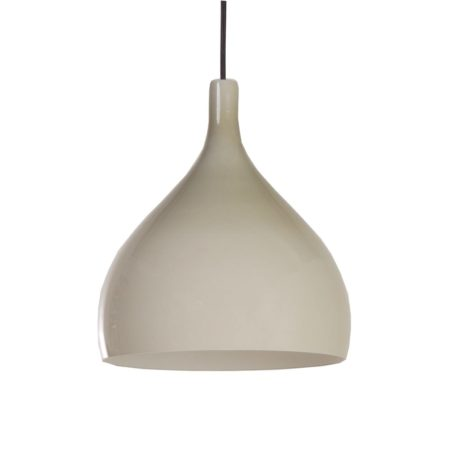 Beige Murano Hanglamp van Paolo Venini voor Venini & C, 1960s Italië | Vintage Design