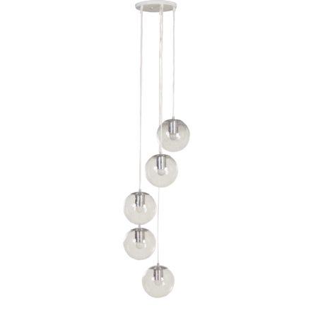 Raak Hanglamp met 5 'Licht Druppels', 1970s | Vintage Design