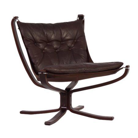 Scandinavische Falcon fauteuil van Sigurd Ressell voor Vatne Mobler, ca. 1974. | Vintage Design