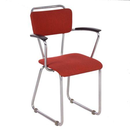 Gispen 214 Bureaustoel met Armleuningen van Christoffel Hoffmann – 1950s | Vintage Design
