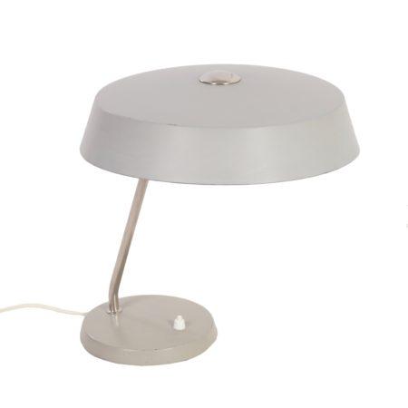 Philips Bureaulamp , 1960s – Grijs Metalen Tafellamp   Vintage Design