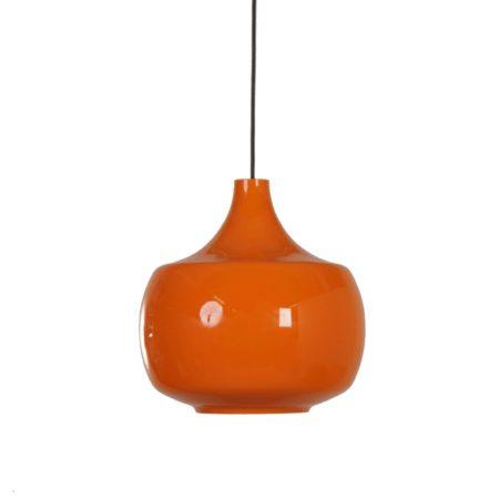 Oranje Murano Hanglamp van Paolo Venini voor Venini & C, 1960s Italië | Vintage Design