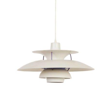 PH 5 hanglamp van Poul Henningsen voor Louis Poulsen, 1958 – Wit | Vintage Design