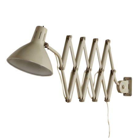 Industriële Hala Schaarlamp '110'  van H. Busquet, 1960s – Gebroken Wit | Vintage Design