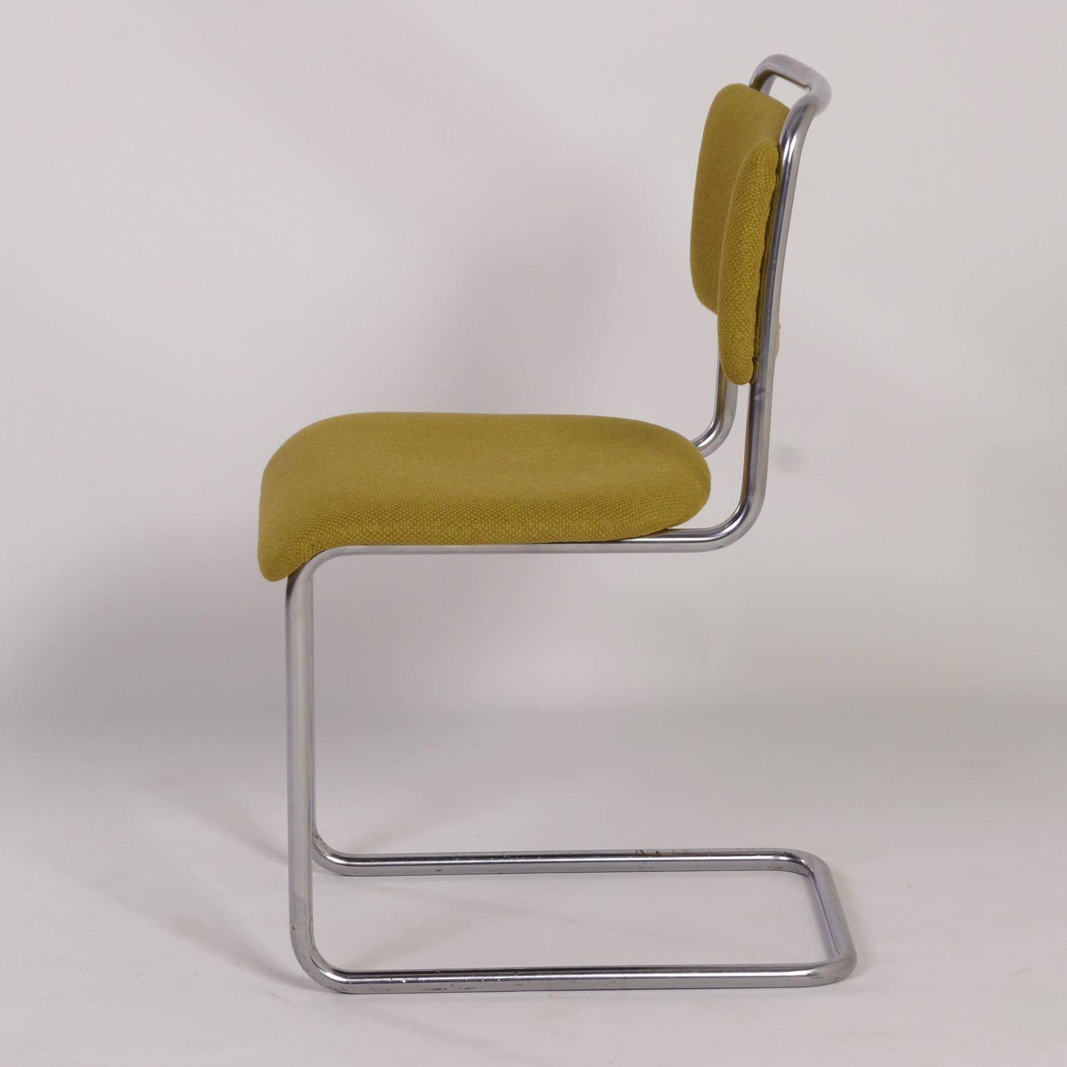 Originele Gispen Bureaustoel.Vintage Gispen 101 Stoel Van W H Gispen 1930s Nieuwe Ploegstof