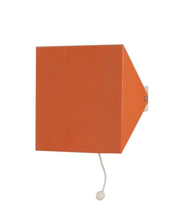 Doria Wandlamp van Wilhelm Braun Feldweg, 1962 – Zalmroze   Vintage Design
