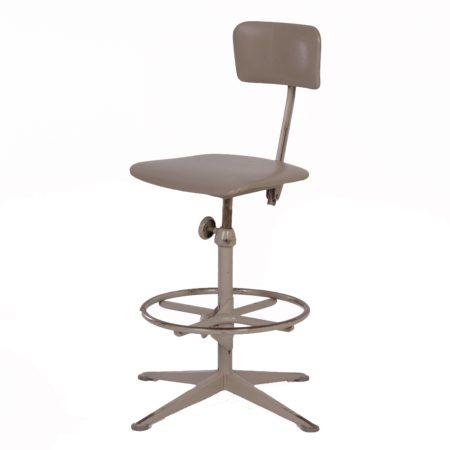 Industriële Werkstoel van Friso Kramer voor Ahrend de Cirkel, ca 1960 – Grijs | Vintage Design