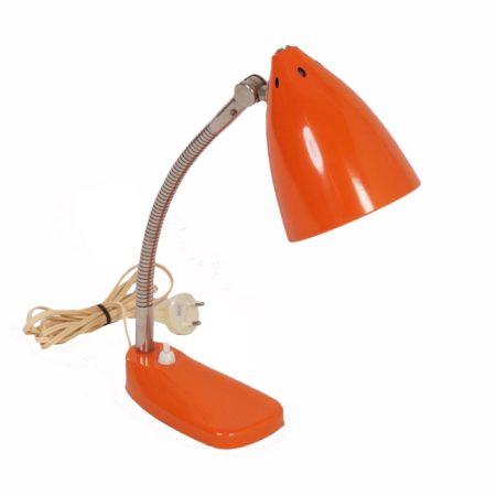 Model 13 Bureaulamp van H. Busquet voor Hala, 1955 – Oranje | Vintage Design