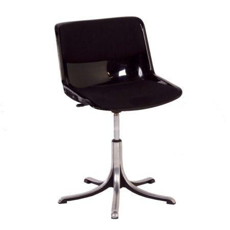 Zwarte Modus Bureaustoel van Osvaldo Borsani voor Tecno, 1970s | Vintage Design