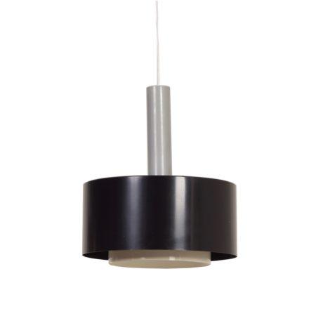 Zwarte Hanglamp van Hiemstra Evolux, 1960s | Vintage Design