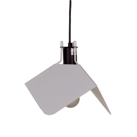 Triedro Hanglamp van Joe Colombo voor Stilnovo, 1970s – Wit | Vintage Design