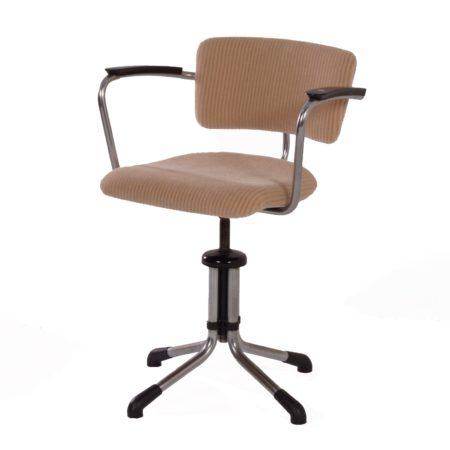 Draaibare Gispen 354 Bureaustoel van W.H. Gispen, 1930s – Opnieuw Bekleed | Vintage Design