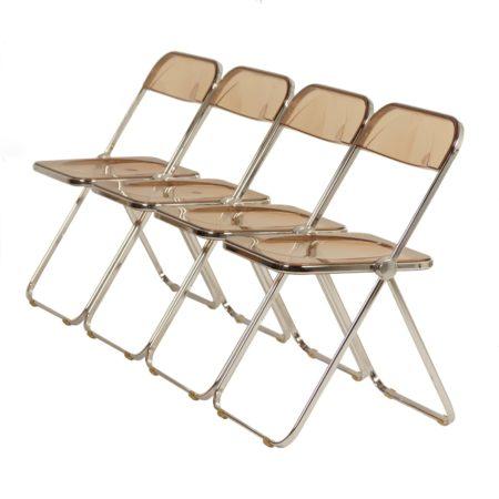 Plia Klapstoelen door Giancarlo Piretti voor Castelli 1960s – Set van 4 | Vintage Design