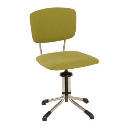 Groene Bureaustoel van W.H. Gispen, 1940s | Vintage Design