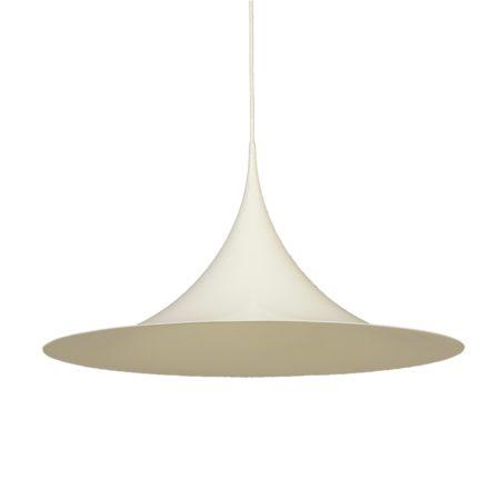 Witte Semi Hanglamp van Bonderup en Thorup voor Fog & Morup, 1960s – 70 cm