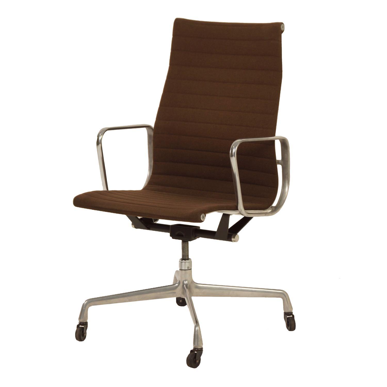 Originele Bruine Kantoorstoel van Charles en Ray Eames voor Herman Miller, 1960s | Vintage Design
