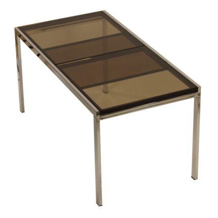 Rookglazen Eettafel van Milo Baughman, 1970s | Vintage Design