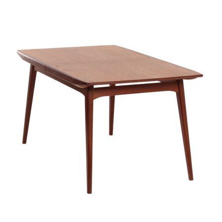 Teakhouten Eettafel van Louis van Teeffelen voor Wébé, 1960s | Vintage Design