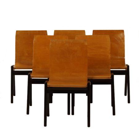 Beukenhouten Eetkamer Stoelen van Roland Rainer, 1956 – Set van 6 | Vintage Design