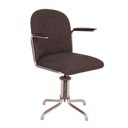 Grijze Gispen 356 Bureaustoel van W.H. Gispen, 1930s | Vintage Design