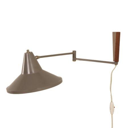 Steengrijze Wandlamp van Louis Kalff voor Philips, 1950s