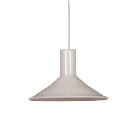 Witte Hanglamp van Michael Bang voor Holmegaard, 1960s