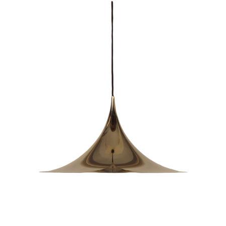 Messing Semi Hanglamp van Bonderup en Thorup voor Fog Morup, 1960s | 47 cm | Vintage Design