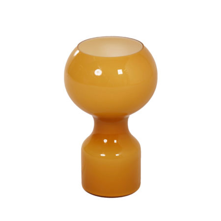 Glazen Tafellamp in Oker Geel van Jean-Paul Emonds-Alt voor Philips, 1960s | Vintage Design