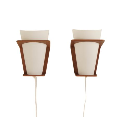 Paar NX 41 Wandlampen van Louis Kalff voor Philips, 1960s | Vintage Design