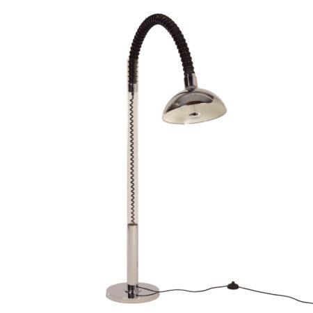 Chromen Space Age Vloerlamp met Flexibele Arm van Cosack, 1970s | Vintage Design