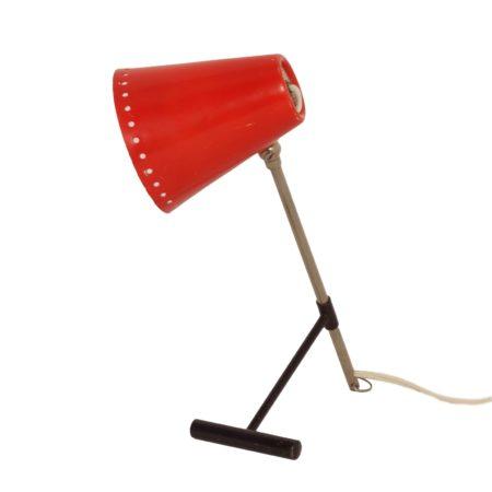 Rode Bambi Tafellamp van Floris Fiedeldij voor Artimeta in ca. 1956 | Vintage Design
