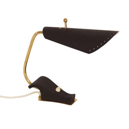 Zwarte Bureaulamp uit Zweden, 1950s | Vintage Design