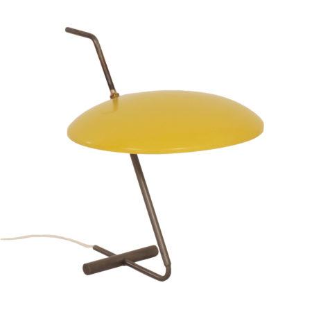 Zeldzame Gele Bureaulamp van Hoogervorst voor Anvia, 1950s | Vintage Design