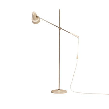 Witte Vloerlamp Model 329 van Willem Hagoort voor Hagoort, 1960s | Vintage Design