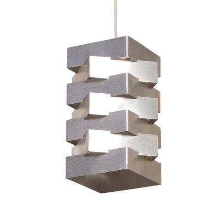 Metalen Hanglamp van Hoogervorst voor Anvia, 1950s | Vintage Design