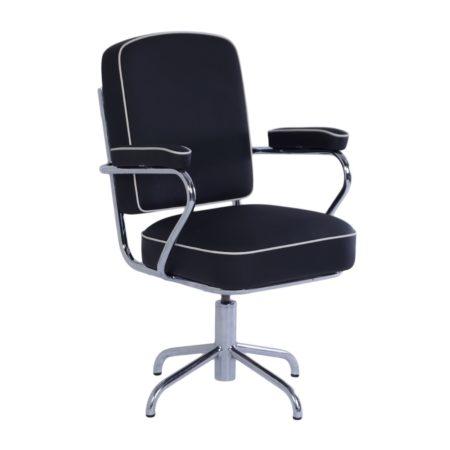 Zeldzame Bureaustoel van Fana Metaal, 1950s – Opnieuw Bekleed | Vintage Design