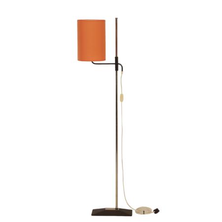 Vintage Vloerlamp met Verstelbare Oranje Kap, 1970s | Vintage Design