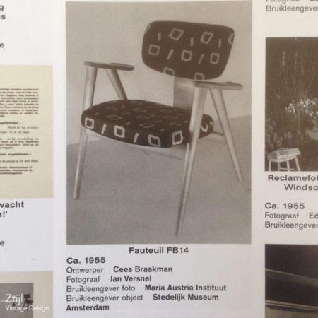 FB 14 Fauteuil van Cees Braakman voor Pastoe, 1960s