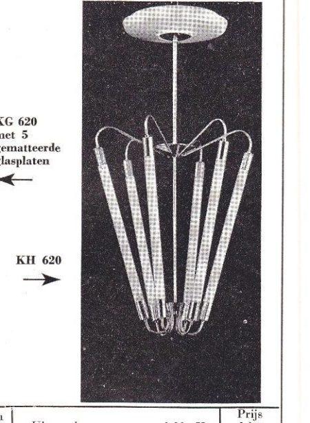 Bauhaus TL Hanglamp KH 620 in Messing van de Technische Unie, 1950s