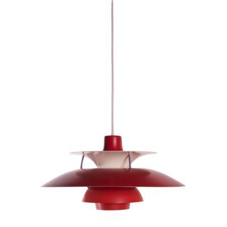 Rode PH 5 hanglamp, Louis Poulsen | Vintage Design