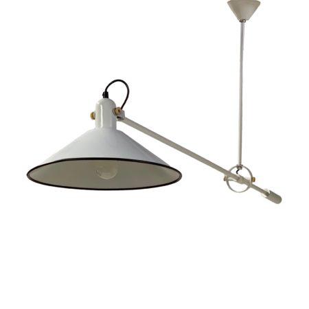Zeldzame Gele Bureaulamp van Hoogervorst voor Anvia, 1950s