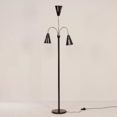 """""""Zonneserie"""" Vloerlamp van H. Busquet voor Hala, 1950s"""