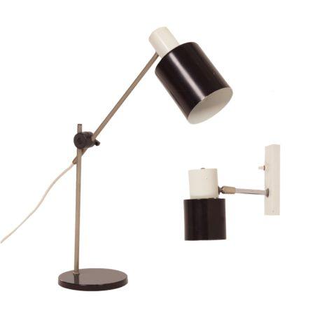 Hala Bureaulamp en Hala Wandlamp, 1960s | Vintage Design