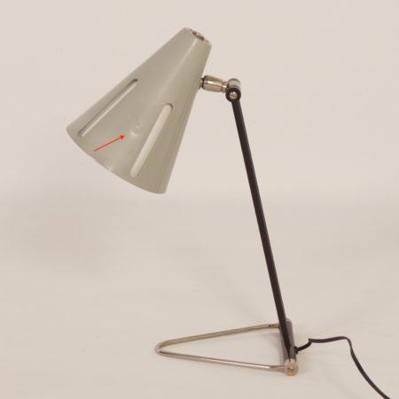 """Zeldzame """"Zonneserie"""" Bureaulamp """"Model 1"""" van H. Busquet voor Hala, 1950s"""