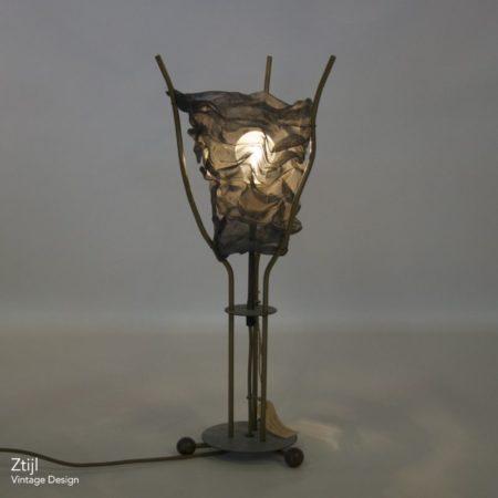 Metalen Tafellamp van Rob Eckhardt voor Eckhart en Leeuwenstein, 1980s